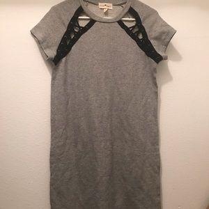 New gray t shirt dress